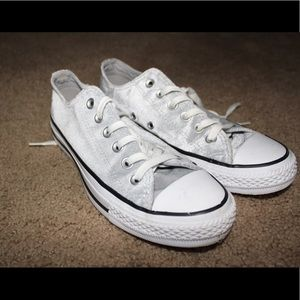 NEW Gray velvet converse sneakers